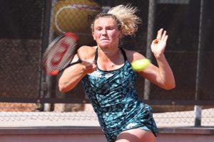 Sieg im Spitzeneinzel. Waldau-Spitzenspielerin Katerina Siniakova (Tschechien) besiegte in Hannover Maria Jose Martinez Sanchez mit 6:1 und 7:6. | Foto: Dural