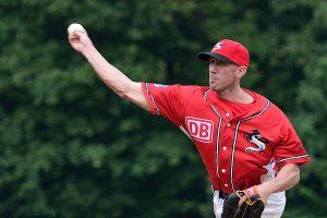 Der erfahrene Pitcher Tim Brown als Verstärkung bei den Reds | Foto: Iris Drobny, www.drobny.photography