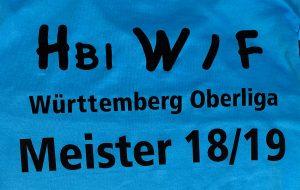 Die weibliche C-Jugend der Hbi Weilimdorf/Feuerbach ist verlustfreier Meister 2019   Foto: Hbi