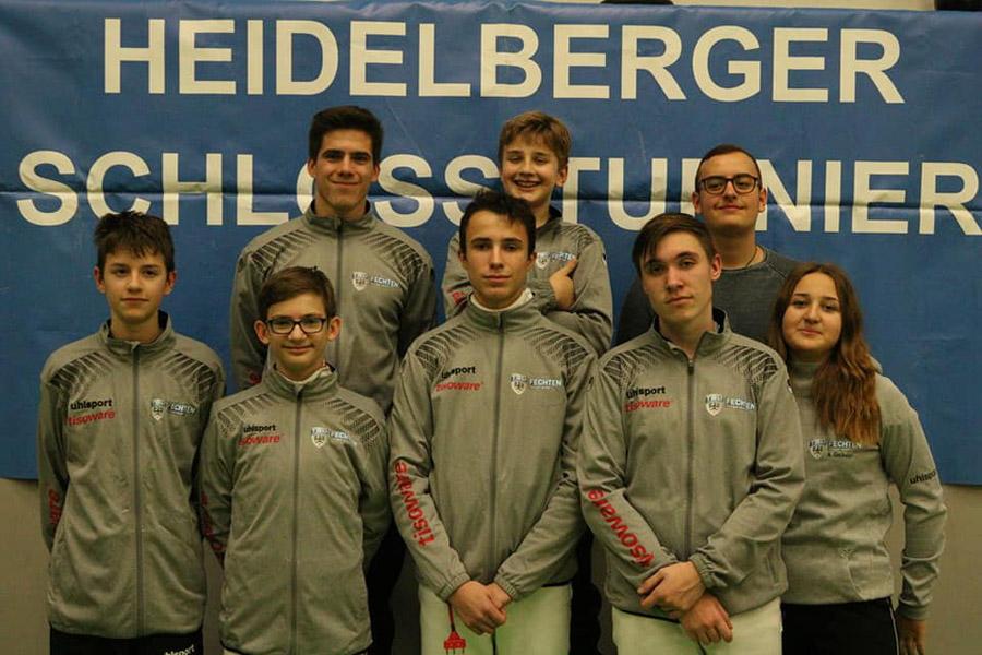 Die Reutlinger Fechter in Heidelberg | Foto: TSG Reutlingen