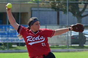 Reds Pitcherin Makinna Akers | Foto: Iris Drobny, www.drobny.photography