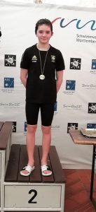 Annika Lange vom TB Cannstatt erschwimmt zwei Silbermedaillen | Foto: TB Cannstatt