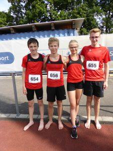 V.l.n.r.: Arno Crepin, Till Zumbach, Olivia Zumbach, Silas Modrow | Foto: Sportvg