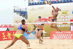 Beachvolleyball-Nationalteam Karla Borger/Julia Sude beim Turnier in Jinjiang | Foto: FIVB