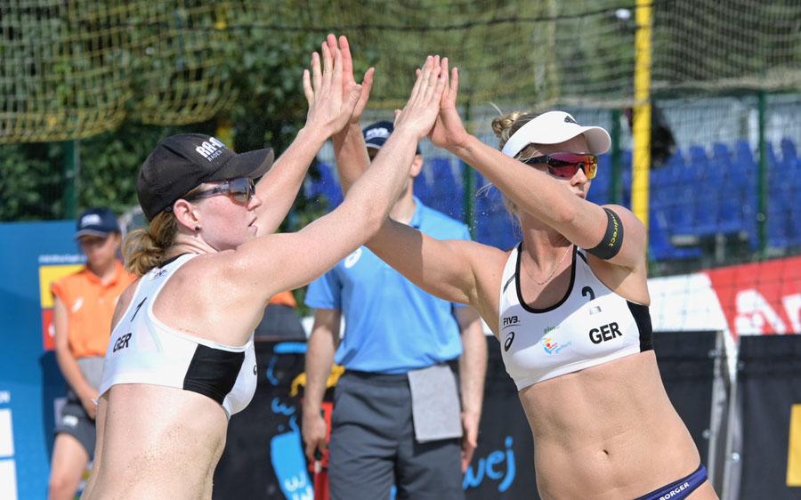 Julia Sude und Karla Borger | Foto: FIVB