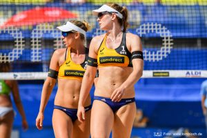 Das Beachvolleyball-Nationalteam Karla Borger/Julia Sude | Foto: www.tombloch.de