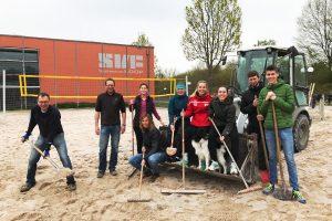 Beachfeld Renovierung 2019 beim SV Fellbach | Foto: SVF