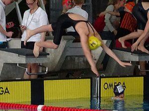 Nachwuchsschwimmerin Cailin Hrubant beim 6. Moikäfer Cup (Foto:TBC)
