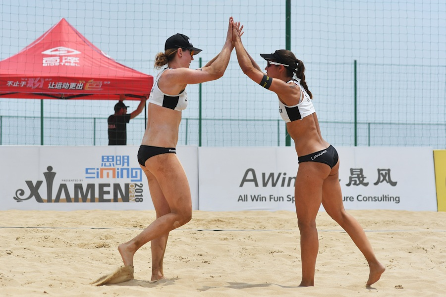 National-Team Chantal Laboureur/Julia Sude in China | Foto: FIVB