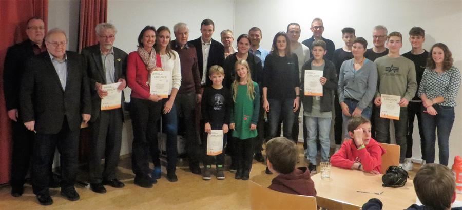 Die Absolventen des Familien-Sportabzeichens der Sportvg | Foto: Sportvg