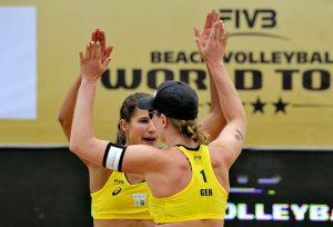 Chantal Laboureur/Julia Sude beim Turnier im polnischen Olsztyn (Foto: FiVB)