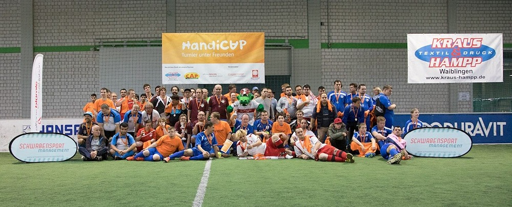 Gruppenbild beim 3. HandiCUP 2017 (Foto: Schwabensport Management)