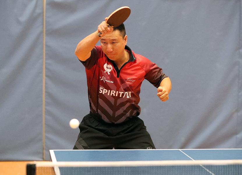 Hao Mu blieb im Doppel und Einzel ungeschlagen | Foto: DJK Sportbund