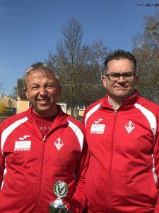 Foto: v.l.n.r: Johannes Scheurer, Reinhard Schmiedl vom SV Vaihingen | Foto: SV Vaihingen