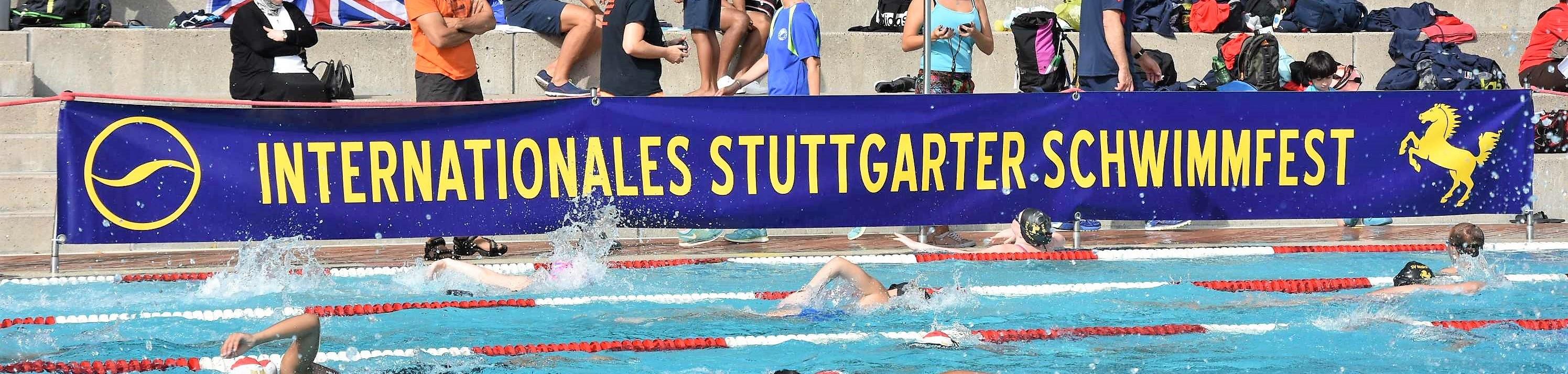 Der Banner des Internationeln Stuttgarter Schwimmfestes vom TB Cannstatt | Foto: TBC