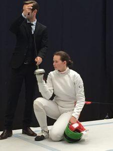 Archivbild: Kerstin Greul bei den Deutschen A-Jugend-Meisterschaften im Degen | Foto: TSF