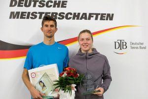 Schöner Saisonabschluss: Lena Rüffer und Yannick Maden wurden in Biberach Deutsche Meister im Mixed | Foto: Jürgen Hasenkopf