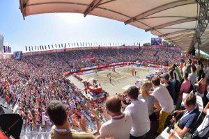 Beachvolleyball-Team Chantal Laboureur/Julia Sude bei der WM in Wien (Foto: Tom Bloch)