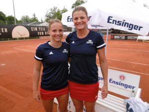 Vor einer tollen Kulisse auf der Waldau sorgten die Doppel Kim Zimmermann / Anna Zaja und Lena Rüffer / Anna Lena Friedsam für die beiden so wichtigen Doppel-Punkte | Foto: Dural