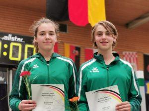 Archivbild: Rosa-Lina Haag (li.) und Annika Amler (re.) bei der Deutschen Meisterschaft | Foto: TSF