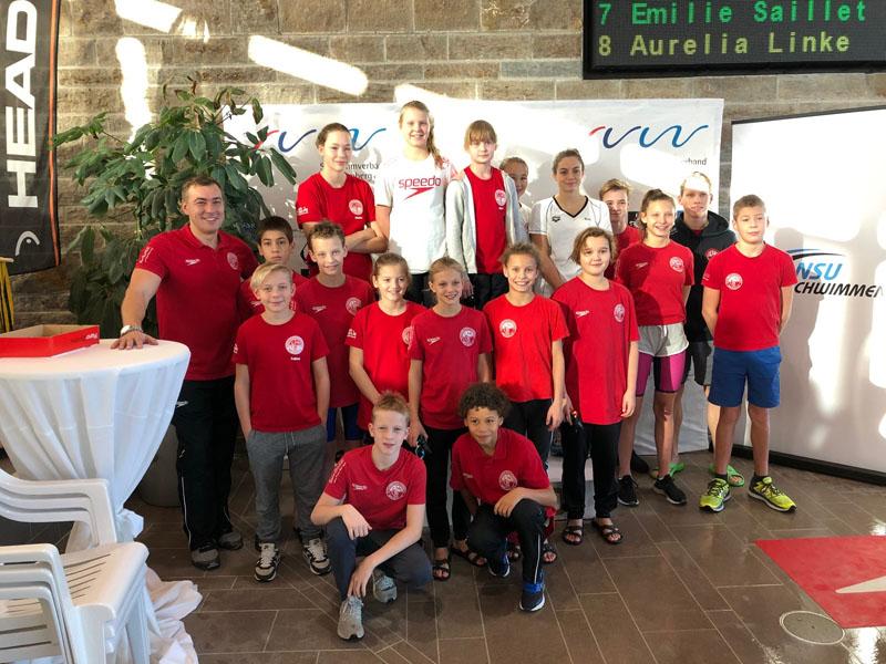 Das Team des Sv Cannstatt bei den Württembergischen Kurzbahnmeisterschaften in Neckarsulm | Foto: SVC