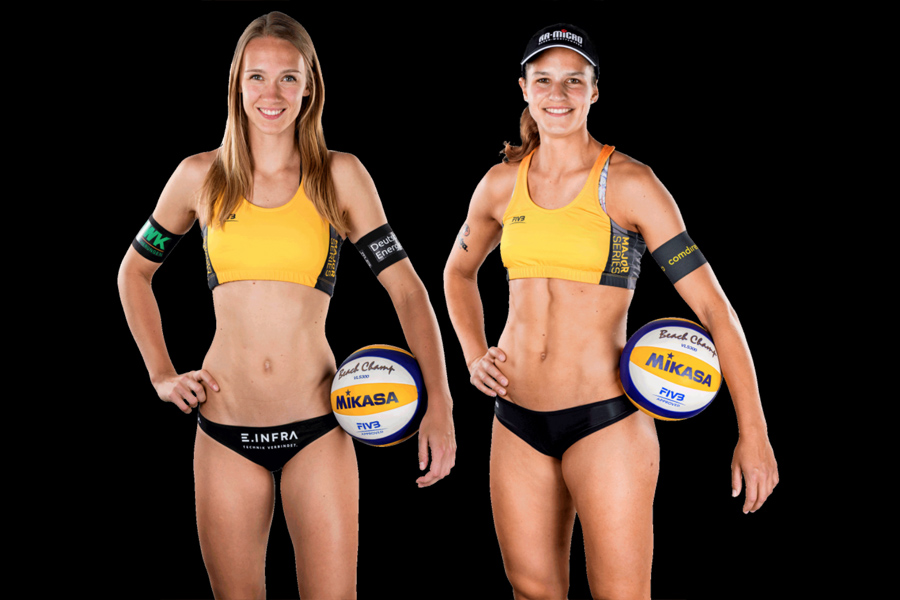 Das neue Beachvolleyball-Team Sandra Ittlinger (li.) und Chantal Laboureur (re.) | Foto: Beachmajors