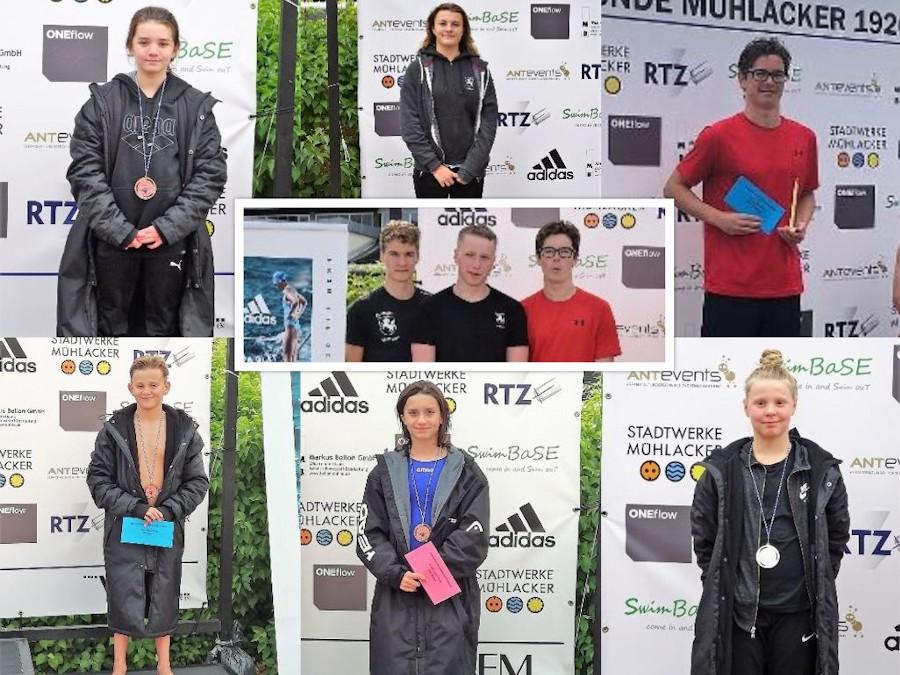Siegerehrungen: Maren und Annika Lange, Max und Hannes Schenke, Johanna Losner, Ben Vester, Fabian Ebinger, Isabell Fitzner | Foto: TBC