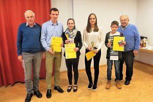 Benno Schmid, Sven Baumstark, Julia Pfizenmaier, Anja Klaus, Marlon Gräfe und Dr. Reiner Fricke | Foto: Sportvg