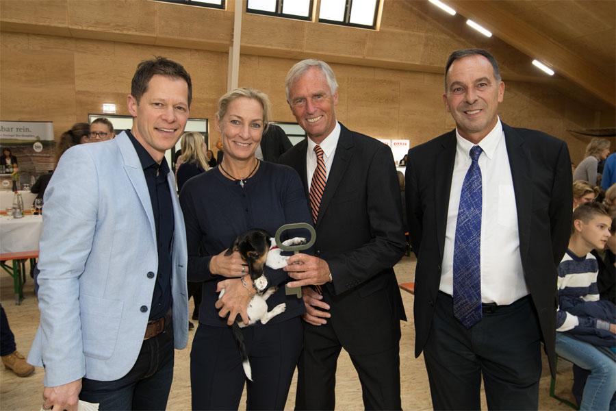 Thomas Bürkle und Christoph von Eynatten, mit Moderator Sascha Bandermann und Barbara Rittner (Foto: Antoine Le Minh)