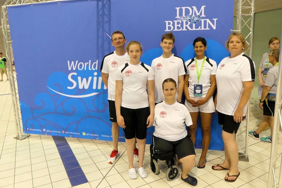 Das Team des SV Cannstatt bei den IDM in Berlin (Foto: SVC)