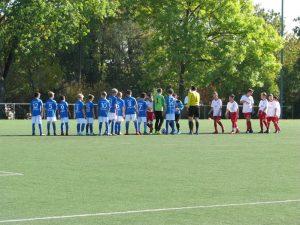 Die D1-Junioren des TSv Weilimdorf auf dem Spielfeld   Foto: TSV Weilimdorf