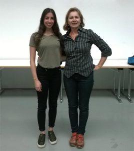 v.l.n.r. Alissa Maragos und Nina Budke (Foto: TF Feuerbach)
