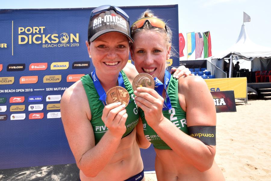 Karla Borger und Julia Sude gewinnen Bronze in Kuala Lumpur | Foto: FIVB