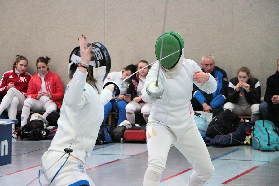 Archivbild: Kerstin Greul (TSF Ditzingen; GER; right) vs. Gabriela Truuse (EST; left) | Foto: Steffen-Michael Eigner