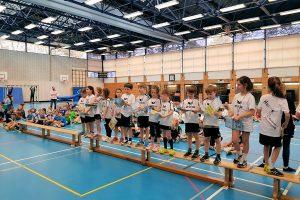 Die Hbi-F-Jugend beim Minispielfest der SG Heumaden-Sillenbuch | Foto: Hbi