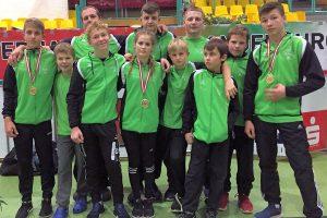 """Die """"Jungen Wölfe"""" beim internationalen Brandenburg-Cup (Foto: SGW)"""