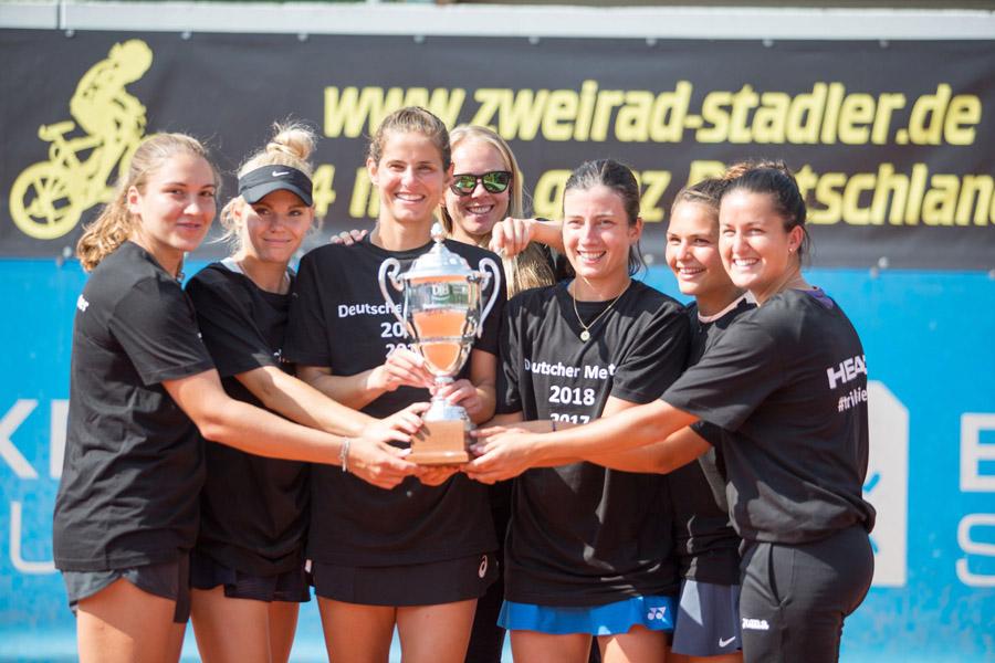 Die diesjährigen Bundesliga-Meisterinnen vom Eckert Tennis Team Regensburg | Foto: TEC