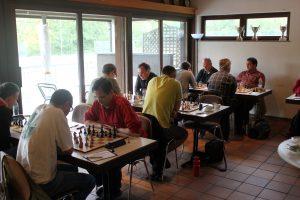 Die 1. Mannschaft der Schachabteilung des SSV Zuffenhausen   Foto: SSV