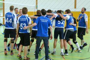 Die Herren 1 des TV Cannstatt-Volleyball feiern ihren 2. Platz im Bezirkspokal | Foto: TVC