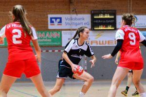 Die B-Jugend-Mädchen der Hbi im Spiel gegen Fellbach | Foto: Hbi